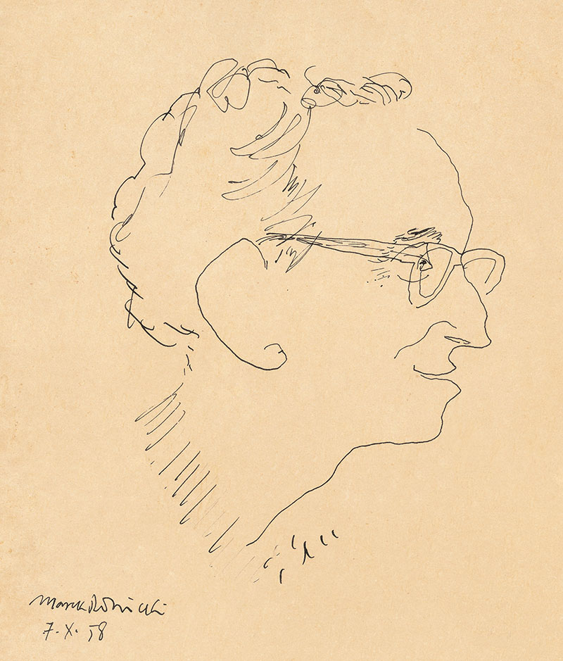 A portrait of Dov Ben David by the polish painter Mark Rodnitzky, 1958
